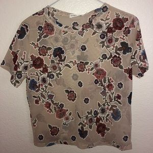 Floral Shear Crop-Top